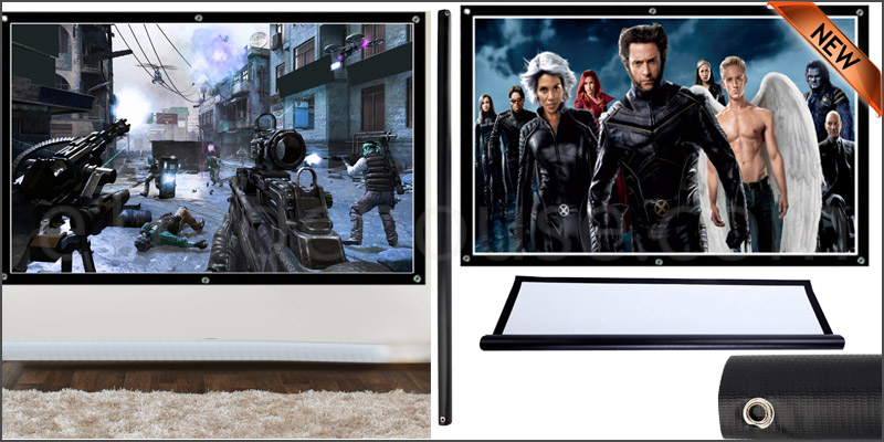 100'' inch 16:9 Fabric Matte Projector Projection