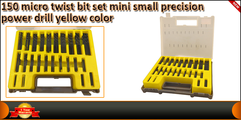 150 Micro Twist Bit Set Mini Small Precision Power
