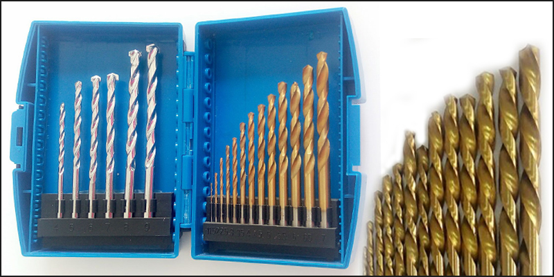 19 PCS HSS Titanium & TCT Masonry Brick Metal Wood