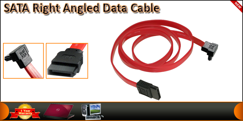 1 Meter SATA to SATA Right Angled Data Cable
