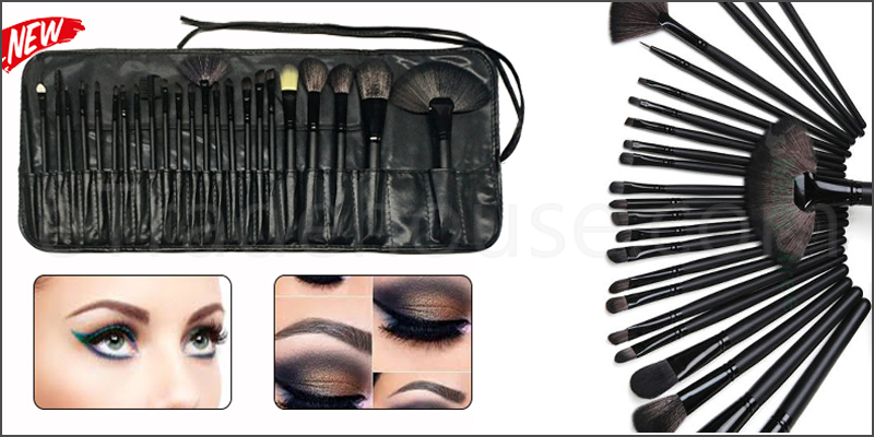 Professional 24 Pieces Makeup Brushes Set with Black Case