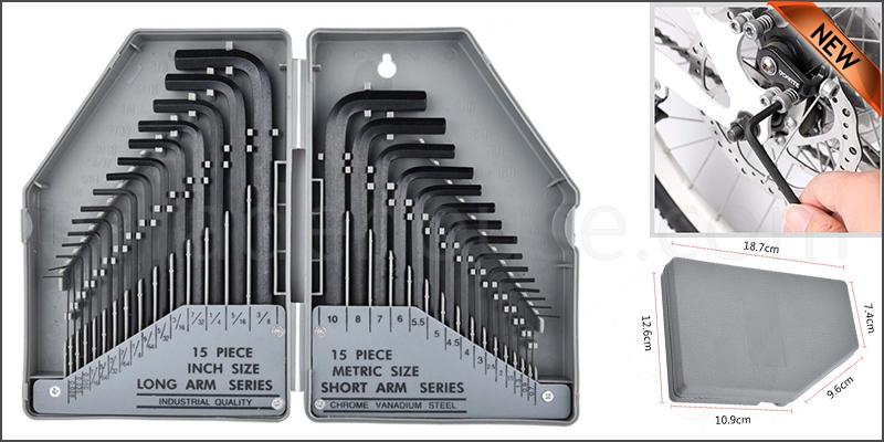 30Pcs Hex Key Allen Alan Allan Key Set Kit with Case Hardened Steel Wrench Set