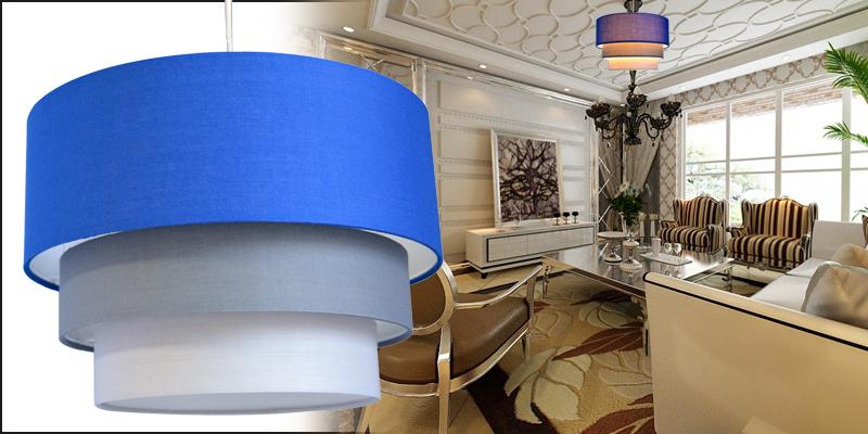 Modern 3 Tier Fabric Ceiling Pendant Light Lamp