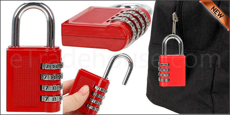 Combination Padlock Lock Gym, School Locker, Sheds, Toolboxes