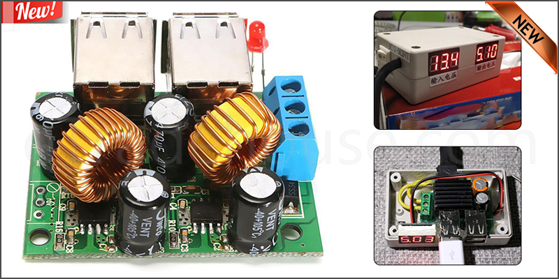 4 USB Power Supply Step Down Module