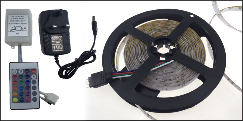 5M 5050 RGB LED Strip Light Power Supply Adapter