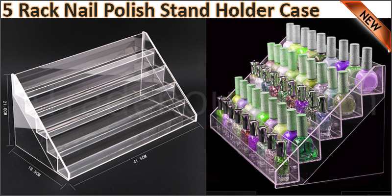 5 Rack Nail Polish Varnish Acrylic Retail Display