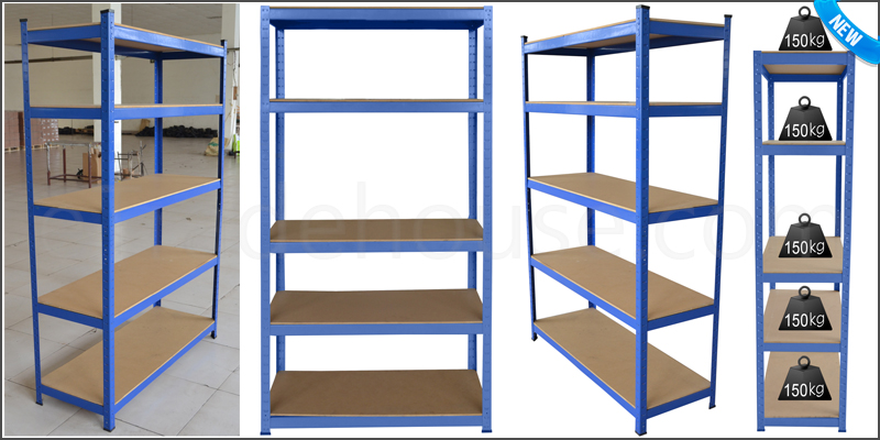 Heavy Duty 5 Tier Boltless Industrial Racking Gara