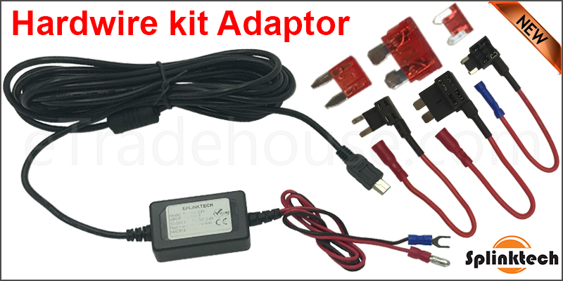 Mini USB Dash Cam Hardwire Charger Kit with ACU, ACS & ACN Plug Fuse