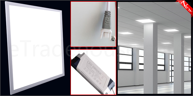 60W Ceiling Suspended Recessed LED Panel White Light Office Lighting 600 x 600mm