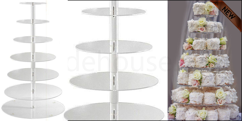 7 Tier Arcylic Cup Display Tower Cake Stand Weddin