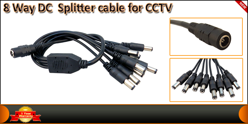 8 Way DC Splitter Cable for CCTV