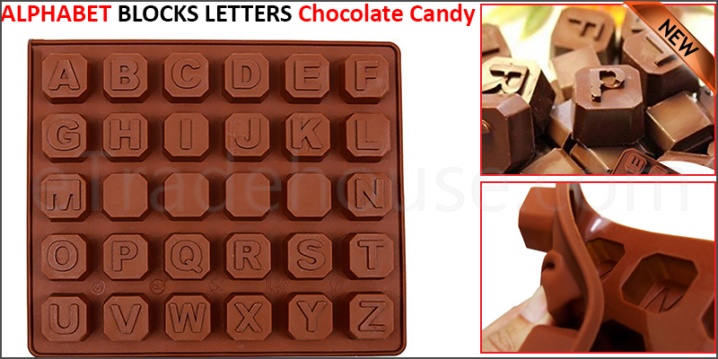 ALPHABET BLOCKS LETTERS Chocolate Candy Silicone Mould Gift Words Favours Party