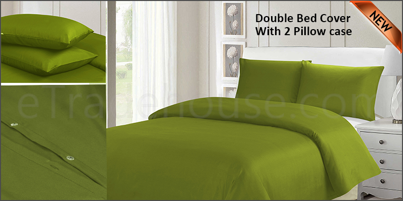 Plain Duvet Cover with Pillow Cases Non Iron Quilt Cover Double Bedding Bedroom Set