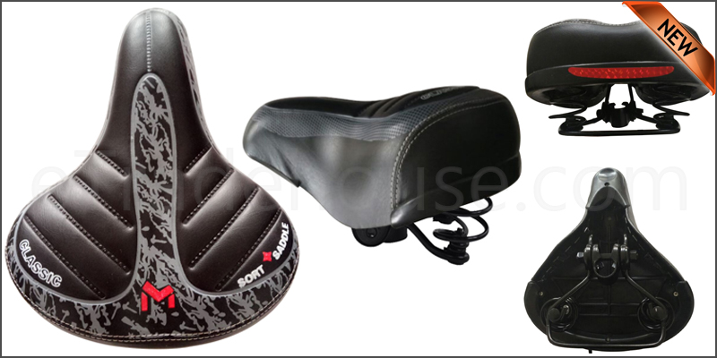 Wide Extra Comfy Bike Bicycle Pad Saddle Seat