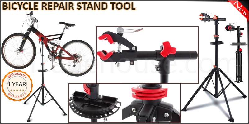 Pro Home Mechanic Folding Rotating Adjustable Bike