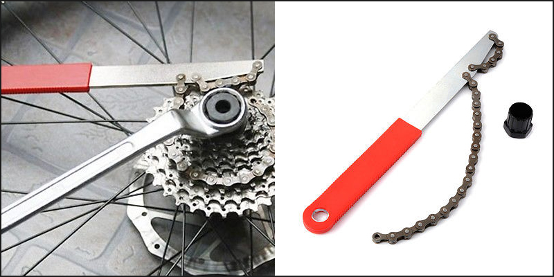 Deluxe Freewheel Bike Chain Whip Cycle Bicycle Cassette Cog Removal Remover Tool
