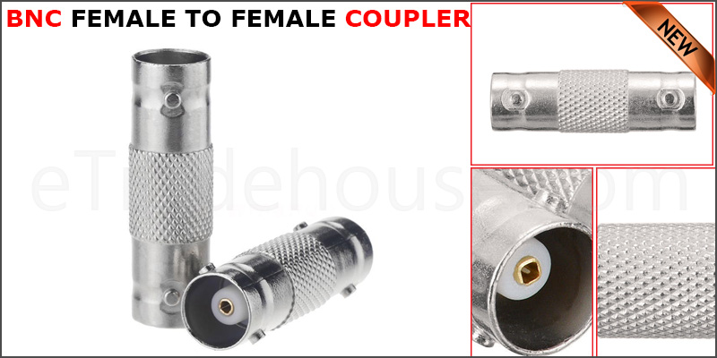 BNC TO BNC Female Coupler Connector Joiner CCTV Camera Extension