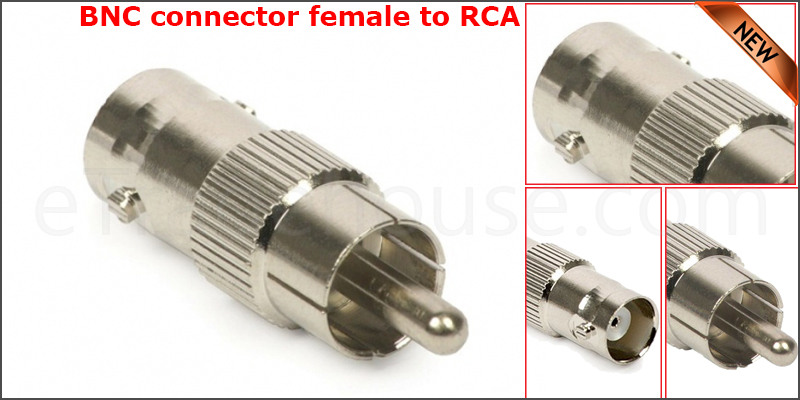 BNC Female to RCA Phono Male Connector Adapter