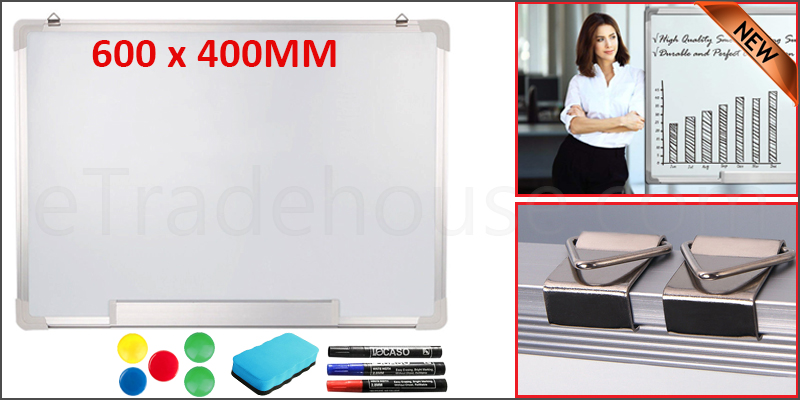 600 X 400MM Office School Magnetic Dry Wipe Whiteboard Drawing Notice Board