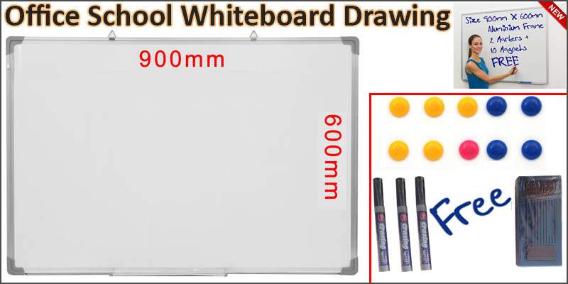 900 X 600MM Office School Magnetic Dry Wipe Whiteboard