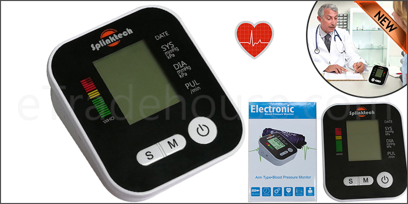 Blood Pressure Monitor Digital Automatic Upper Arm Intellisense 180 Memory