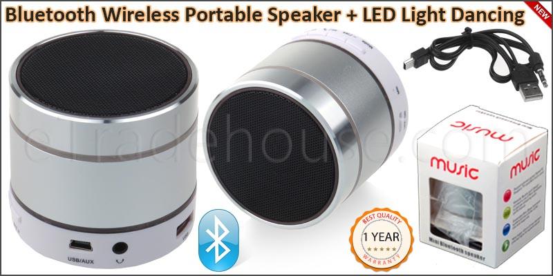 Bluetooth Wireless Portable LED Light Dancing Spea