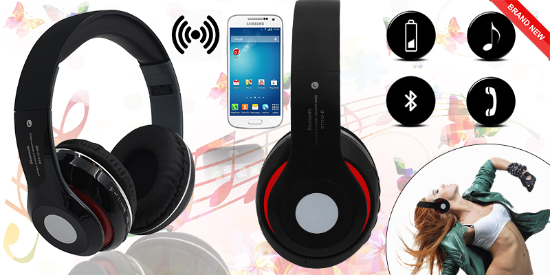 Versatile 3-in-1 Bluetooth Headphones; featuring Bluetooth, TF card playback and an FM radio