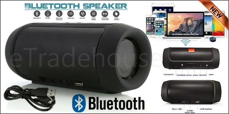 Portable Charge 2 Plus Wireless Bluetooth Mini Portable Speakers BLACK