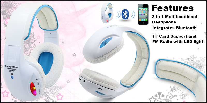 Go radio ga ga over these 3-in-1 LED FM Radio Headphones