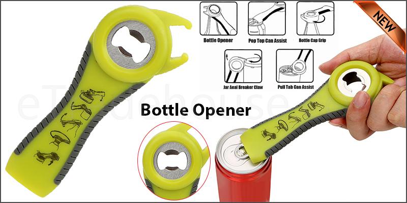5 In One Multifunction Bottle Opener Jar Can Kitchen Manual Tool Gadget
