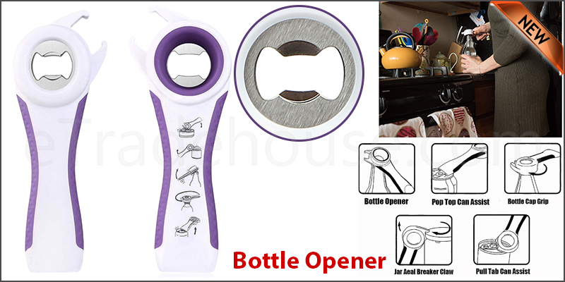5 In One Multifunction Bottle Opener Jar Can Kitchen Manual Tool Gadget
