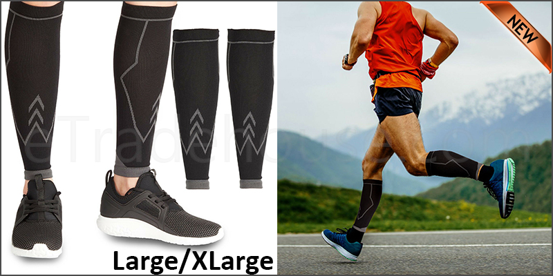 Calf Compression Socks Sleeves Shin Running Tights Foot Pain Relief Travel 14-19in(L/XL)