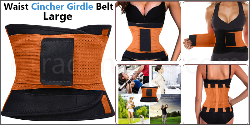 Sport Waist Cincher Girdle Belt Body Shaper Tummy Trainer Belly Training Corsets L Orange