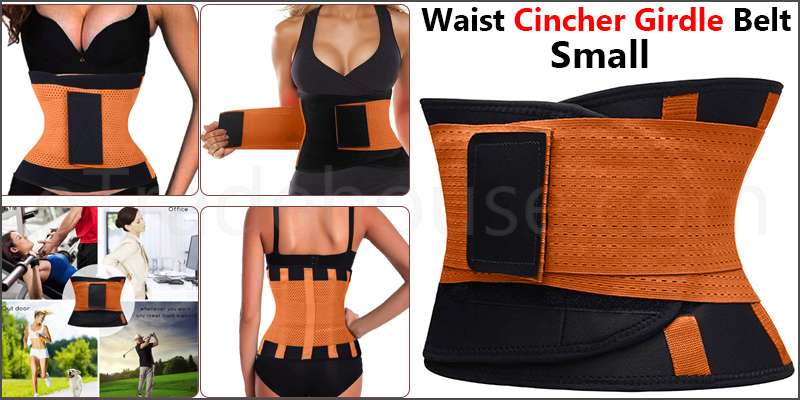 Sport Waist Cincher Girdle Belt Body Shaper Tummy Trainer Belly Training Corsets S Orange