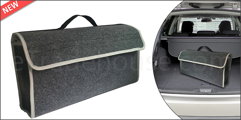 Car Van Grey Carpet Boot Storage Bag Organizer Tools Breakdown Travel Tidy Large