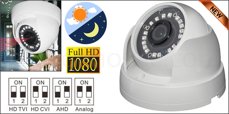 1080P 2.4MP SONY HD TVI AHD CVI ANALOGUE 4 IN 1 CCTV DOME CAMERA