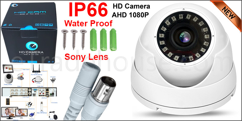 2.4MP Sony CCTV 4IN1 Dome Camera Full HD CVI 238AHD TVI Analog CVBS NIGHT VISION WITH UTC FUNCTION