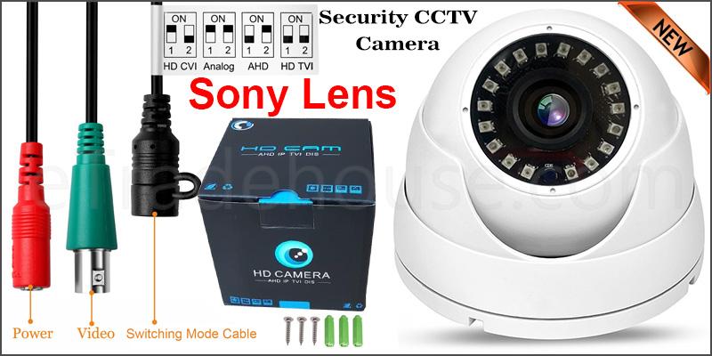 2.4MP Sony CCTV 4IN1 OSD Dome Camera (Joystick) Full HD CVI 238AHD TVI Analog CVBS NIGHT VISION WITH UTC FUNCTION