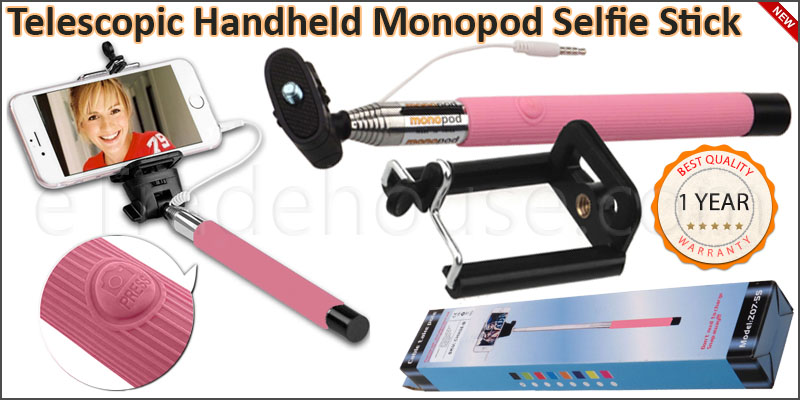 3.5MM Jack Cable Telescopic Handheld Mono-pod Self