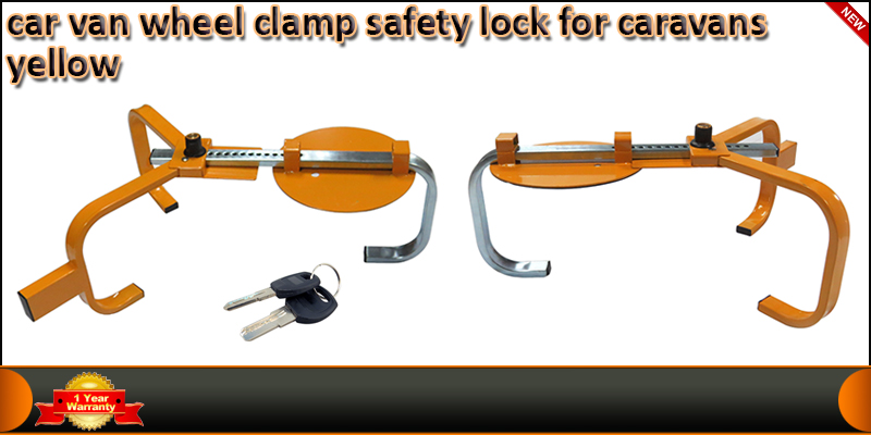 Heavy Duty Steel Car Van Wheel Clamp Safety Lock F