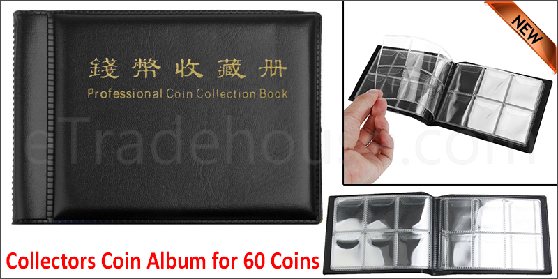 Collectors Coin Album for 60 Coins 50p Olympic,Beatrix,old 50p ,£2 ,£1