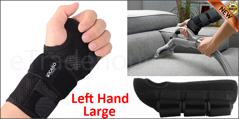 Carpal Tunnel Support Adjustable Brace Splint Arthritis Left Hand L