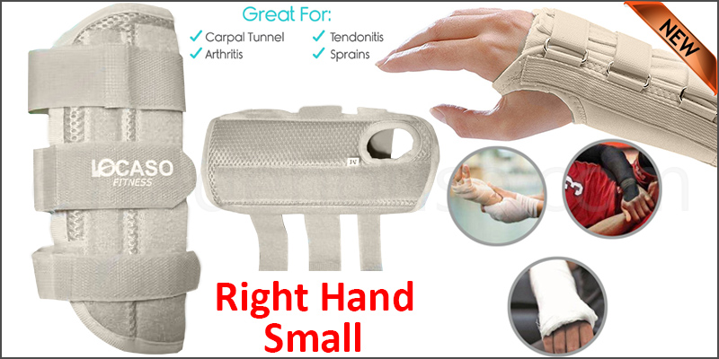 Carpal Tunnel Support Adjustable Brace Splint Arthritis Right Hand S