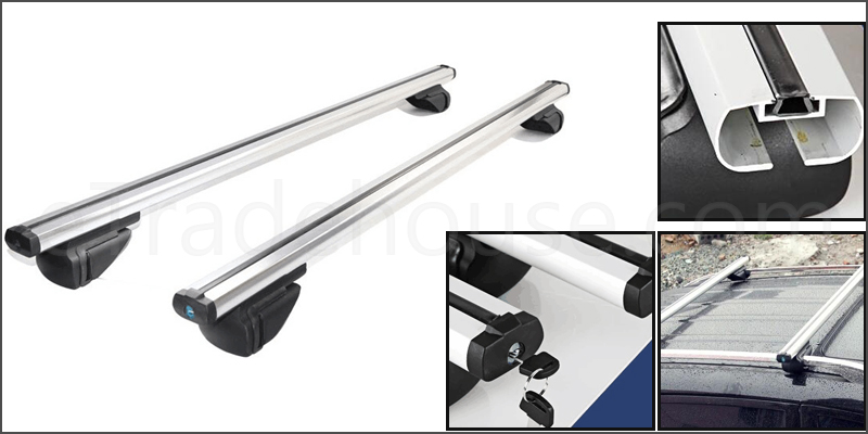 Universal Lockable Anti-Theft Car Roof Bars For Cars With Rails Locking Roof Bar