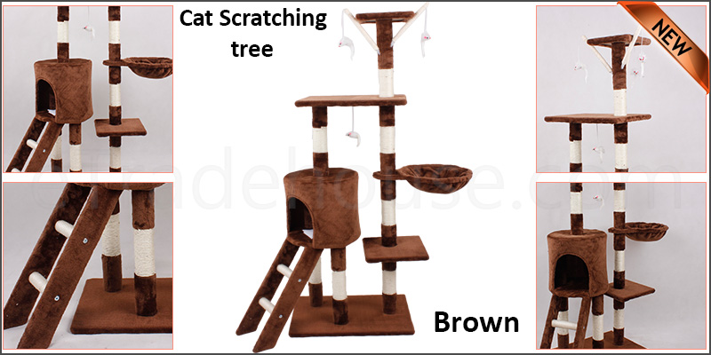Cat Tree Scratching Climbing Post Activity Center Toy House