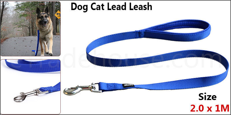 1 Meter Nylon Cat Dog Leash Lead Padded Handles Training Show Halter Control Obedience