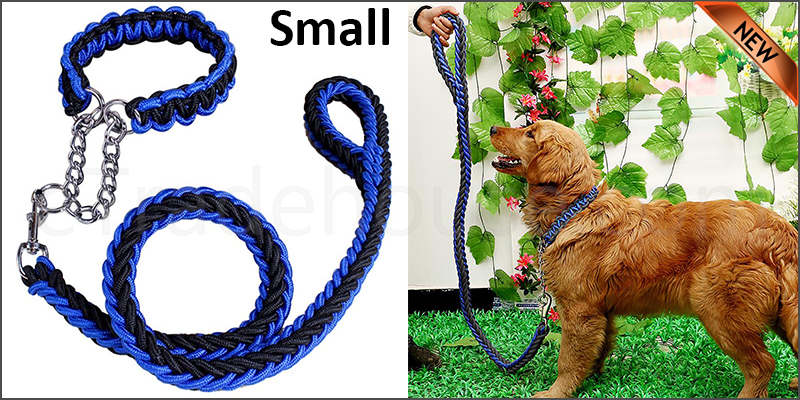 Strong Dog Pet Lead Leash Splitter Coupler with Clip Dag Chain Collar Harness Small size