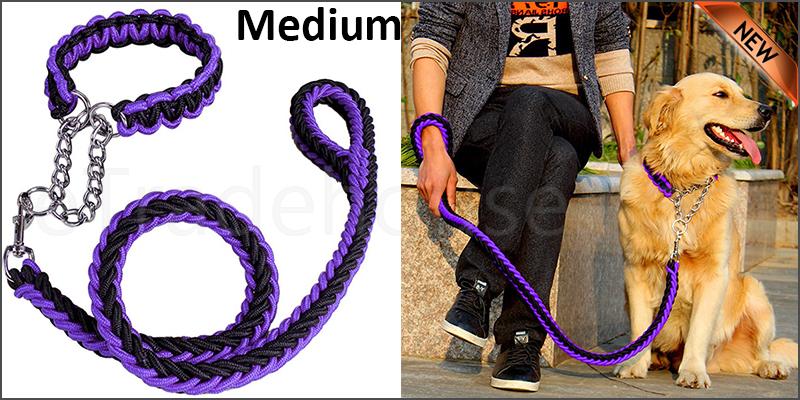 Strong Dog Pet Lead Leash Splitter Coupler with Clip Dag Chain Collar Harness Medium size