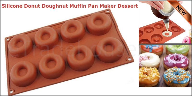 Silicone Donut Doughnut Muffin Pan Maker Dessert